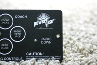 USED RV POWER GEAR LEVELING CONTROL TOUCH PAD 500456 FOR SALE