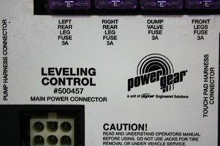 USED RV POWER GEAR LEVELING CONTROL BOARD 500457 FOR SALE