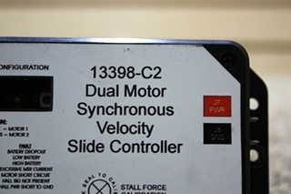 USED RV 13398-C2 DUAL MOTOR SYNCHRONOUS VELOCITY SLIDE CONTROLLER FOR SALE