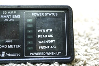 USED RV 50AMP SMART EMS DISPLAY BY INTELLITEC 00-00903-150 FOR SALE