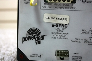 USED RV POWER GEAR E-SYNC SLIDE-OUT ROOM SYNCRONIZATION CONTROLLER 140-1140 FOR SALE