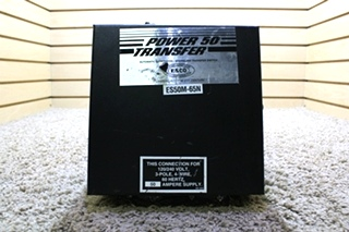 USED RV POWER 50 TRANSFER ES50M-65N AUTOMATIC GENERATOR - SHORELINE TRANSFER SWITCH FOR SALE