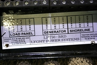 USED LYGHT POWER SYSTEMS AUTOMATIC TRANSFER SWITCH LPT50BRD RV PARTS FOR SALE