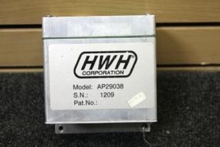 USED RV/MOTORHOME HWH CORP. LEVELING CONTROL BOX PN: AP29038 SN: 1209