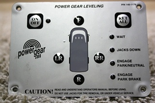 USED 140-1179 POWER GEAR LEVELING TOUCH PAD MOTORHOME PARTS FOR SALE