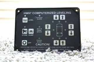 USED MOTORHOME HWH COMPUTERIZED LEVELING TOUCH PAD AP25650 FOR SALE