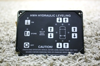 USED RV HWH HYDRAULIC LEVELING AP10215T TOUCH PAD FOR SALE