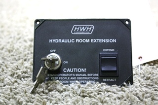 USED HWH HYDRAULIC ROOM EXTENSION AP11599 CONRTOL PANEL RV PARTS FOR SALE