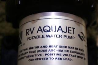 USED RV AQUAJET POTABLE WATER PUMP 5503-AV15-B636 FOR SALE