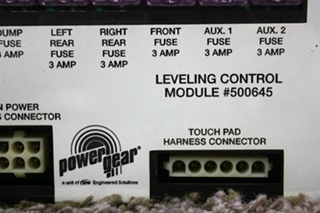 USED RV POWER GEAR LEVELING CONTROL MODULE 500645 MOTORHOME PARTS FOR SALE