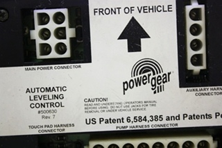 USED POWER GEAR AUTOMATIC LEVELING CONTROL 500630 RV PARTS FOR SALE