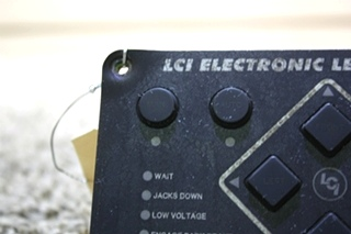 USED RV LCI ELECTRONIC LEVELING TOUCH PAD FOR SALE