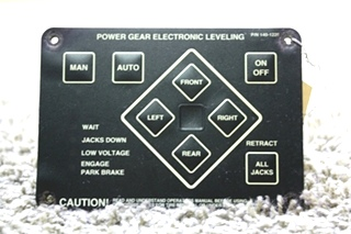 USED 140-1226 POWER GEAR ELECTRONIC LEVELING TOUCH PAD MOTORHOME PARTS FOR SALE