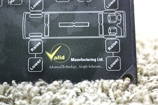 USED RV VALID LEVELING TOUCH PAD VTL02A008-13 MOTORHOME PARTS FOR SALE