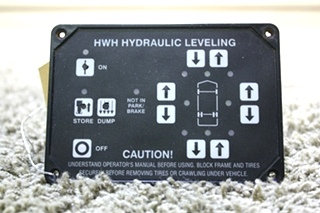 USED HWH HYDRAULIC LEVELING TOUCH PAD AP10054 RV PARTS FOR SALE