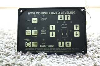 USED MOTORHOME HWH COMPUTERIZED LEVELING TOUCH PAD AP22703 FOR SALE