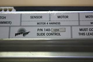 USED RV POWER GEAR SLIDE CONTROL 140-1233 MOTORHOME PARTS FOR SALE