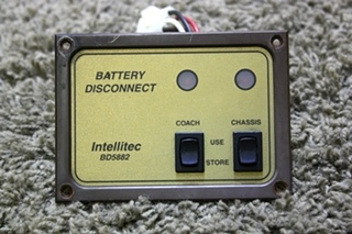 USED RV INTELLITEC BATTERY DISCONNECT SWITCH BD5882 FOR SALE