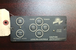 USED RV/MOTORHOME POWER GEAR LEVELING CONTROL PN: 500456