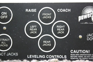 USED MOTORHOME POWER GEAR 500456 LEVELING TOUCH PAD FOR SALE