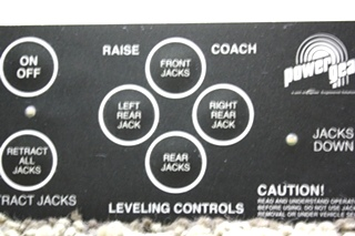 USED POWER GEAR LEVELING CONTROLS 500456 RV PARTS FOR SALE