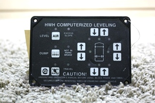 USED RV PARTS HWH COMPUTERIZED LEVELING TOUCH PAD FOR SALE