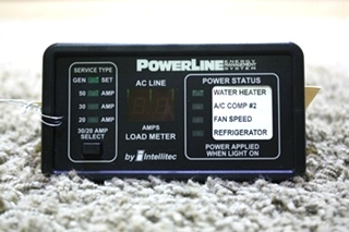 USED RV POWERLINE ENERGY MANAGEMENT SYSTEM BY INTELLITEC 00-00757-000 FOR SALE