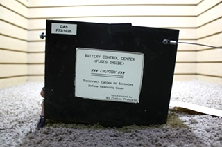 USED RV CUSTOM PRODUCTS BATTERY CONTROL CENTER GAS F73-1020 MOTORHOME PARTS FOR SALE