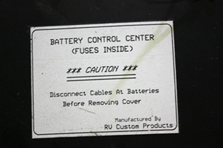 USED DIESEL F73-1040 RV CUSTOM PRODUCTS BATTERY CONTROL CENTER MOTORHOME PARTS FOR SALE