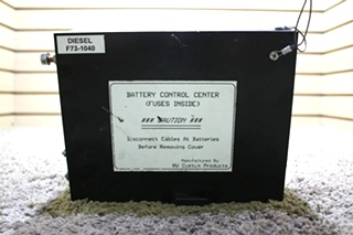 USED MOTORHOME F73-1040 RV CUSTOM PRODUCTS BATTERY CONTROL CENTER FOR SALE