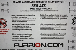 USED F50-ATS FURRION 50A AUTOMATIC TRANSFER RELAY SWITCH RV PARTS FOR SALE
