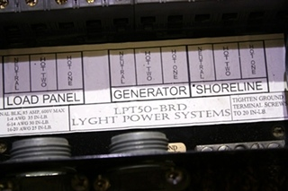 USED RV LYGHT POWER SYSTEMS AUTOMATIC TRANSFER SWITCH LPT50-BRD FOR SALE