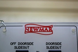 USED NEWMAR DOORSIDE SLIDE OUT SWITCH PANEL RV PARTS FOR SALE