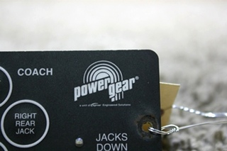 USED POWER GEAR LEVELING TOUCH PAD 500456 MOTORHOME PARTS FOR SALE