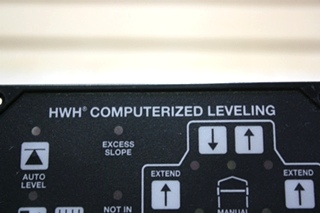 USED AP34884 HWH COMPUTERIZED LEVELING TOUCH PAD RV PARTS FOR SALE