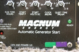 USED RV MAGNUM ENERGY AUTOMATIC GENERATOR START FOR SALE