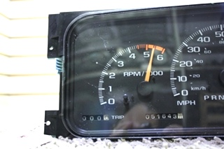 USED WORKHORSE 09379876 DASH CLUSTER MOTORHOME PARTS FOR SALE