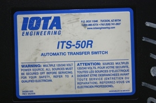 USED RV IOTA ENGINEERING AUTOMATIC TRANSFER SWITCH ITS-50R FOR SALE