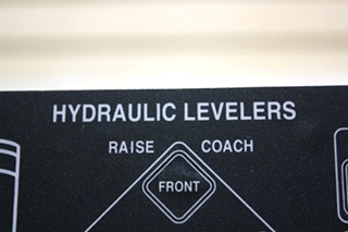 USED MILWAUKEE CYLINDER HYDRAULIC LEVELER TOUCH PAD 00-00309-000 RV PARTS FOR SALE
