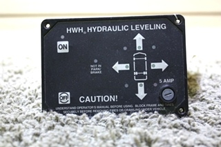 USED MOTORHOME HWH HYDRAULIC LEVELING TOUCH PAD AP9755 FOR SALE