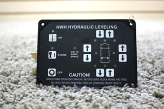 USED AP10215 HWH HYDRAULIC LEVELING TOUCH PAD MOTORHOME PARTS FOR SALE