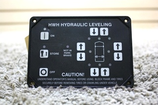 USED MOTORHOME AP10215P HWH HYDRAULIC LEVELING TOUCH PAD FOR SALE