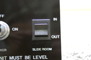 USED EZ GLIDE BY FLEETWOOD ROOM EXTENSION SWITCH PANEL RV PARTS FOR SALE