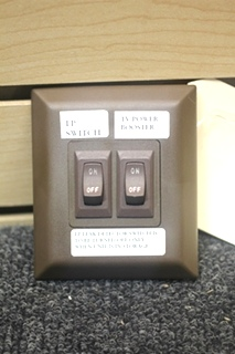 USED RV/MOTORHOME ODDYSSEY GROUP BROWN DOUBLE WALL MOUNT SWITCH