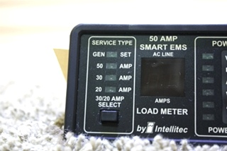 USED 00-00684-100 50 AMP SMART EMS BY INTELLITEC DISPLAY PANEL MOTORHOME PARTS FOR SALE