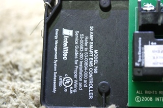 USED INTELLITEC 50 AMP SMART EMS CONTROLLER MODEL 760 00-00894-200 RV PARTS FOR SALE