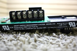USED RV INTELLITEC SMART ENERGY MANAGEMENT SYSTEM CONTROLLER MODEL 610 00-00740-000 FOR SALE