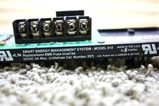 USED 00-00740-000 INTELLITEC SMART ENERGY MANAGEMENT SYSTEM CONTROLLER MODEL 610 RV PARTS FOR SALE