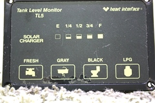 USED RV HEART INTERFACE TANK LEVEL MONITOR TL5 84-2025-02 FOR SALE
