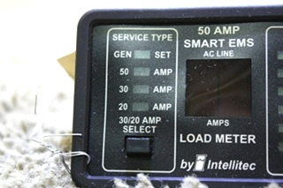 USED RV 50 AMP SMART EMS BY INTELLITEC DISPLAY PANEL 00-00684-100 FOR SALE